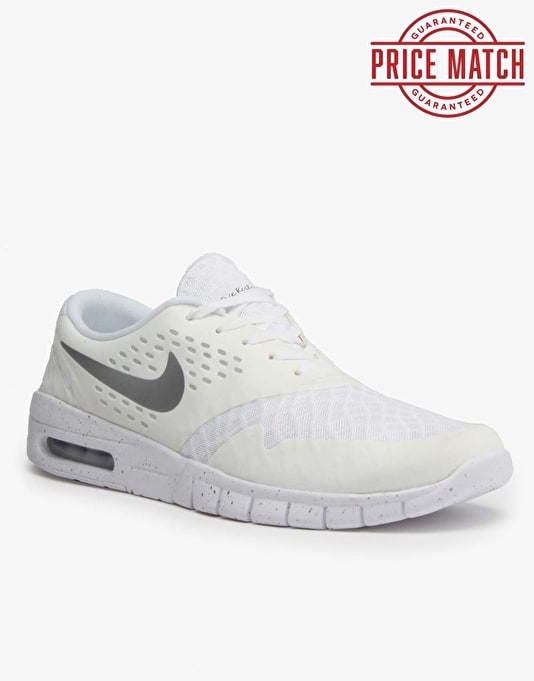 Nike SB Eric Koston 2 Max Shoes - White/Metallic Silver - Black
