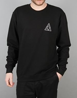 HUF Triple Triangle Crewneck Sweatshirt - Black