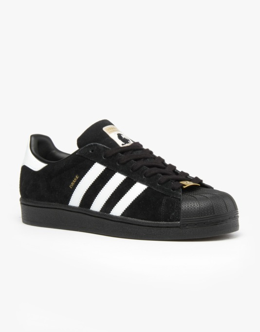 Adidas RYR Drake Jones Superstar Skate Shoes - Core Black/White
