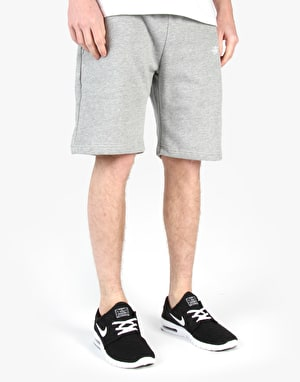 Stüssy Training Fleece Shorts - Grey Heather