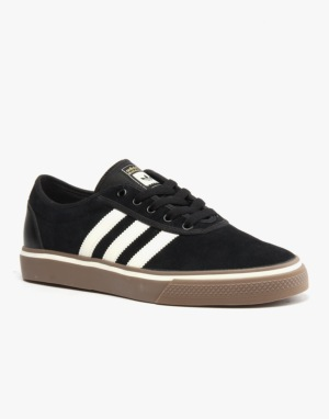 Adidas Adi-Ease ADV Skate Shoes - Core Black/Cream White/Gum