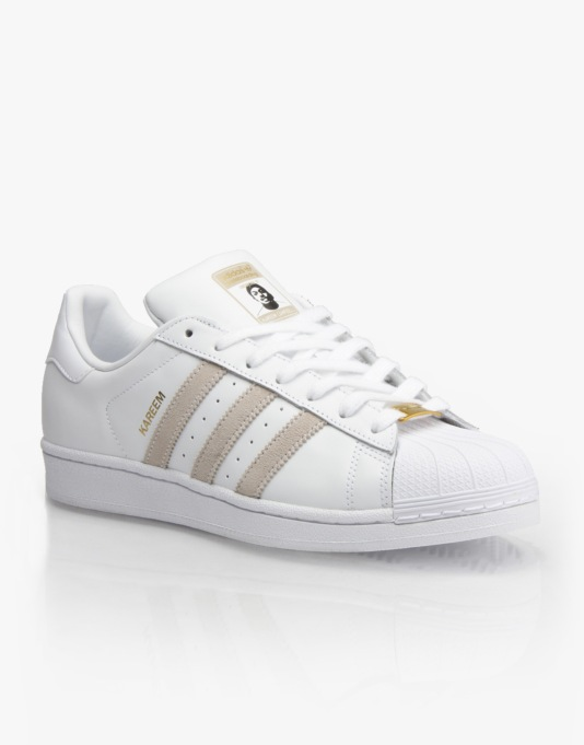 Adidas RYR Kareem Campbell Superstar Skate Shoes - White/White/White