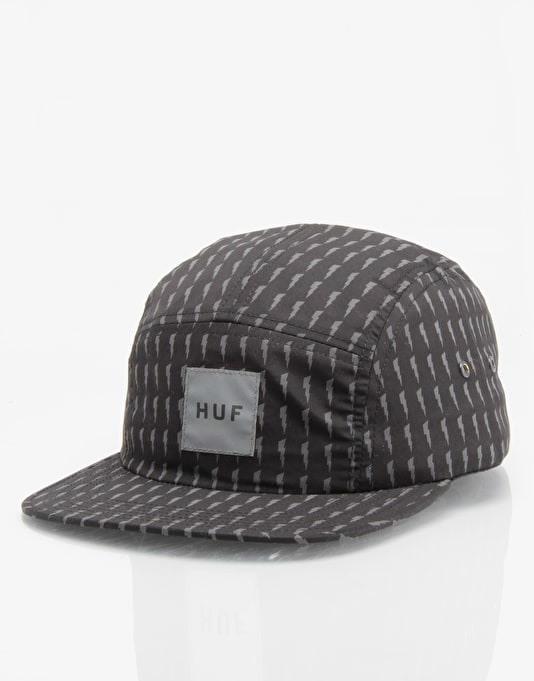 HUF Thunderbolt 5 Panel Cap - Black/Grey
