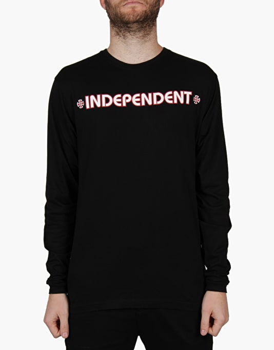 Independent Bar Cross L/S T-Shirt  - Black