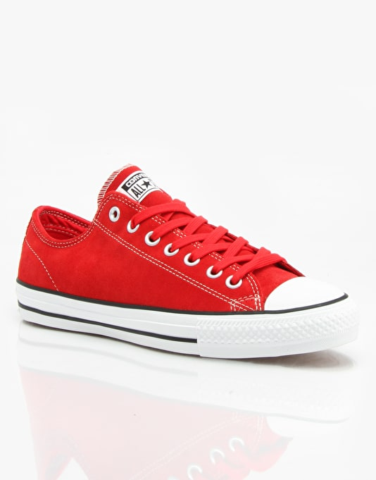 Converse CONS CTAS Pro Suede Skate Shoes - Red/White