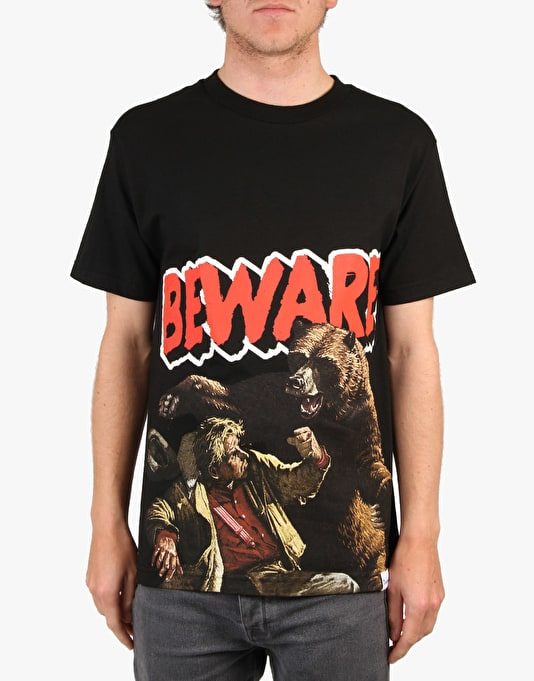 Grizzly Beware Of The Bear T-Shirt - Black