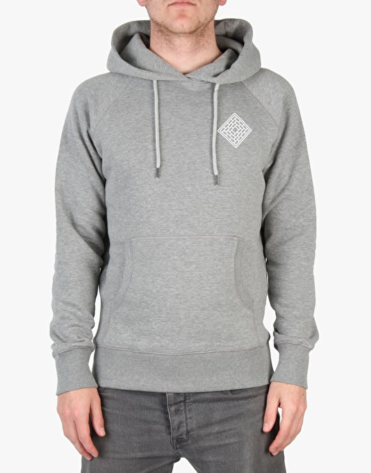 The National Skateboard Co. Mono Pullover Hoodie - Heather Grey