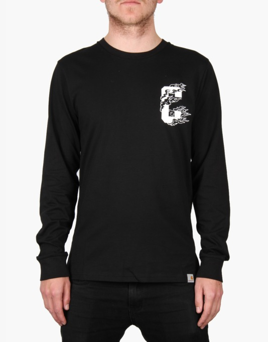 Carhartt L/S Flame 89 T-Shirt - Black