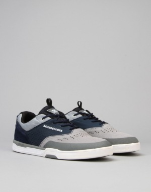 DC Cole Lite 3 S Skate Shoes - Grey/Blue/Grey