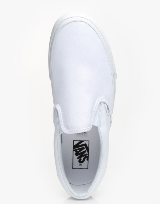 Vans Classic Slip On Skate Shoes - True White