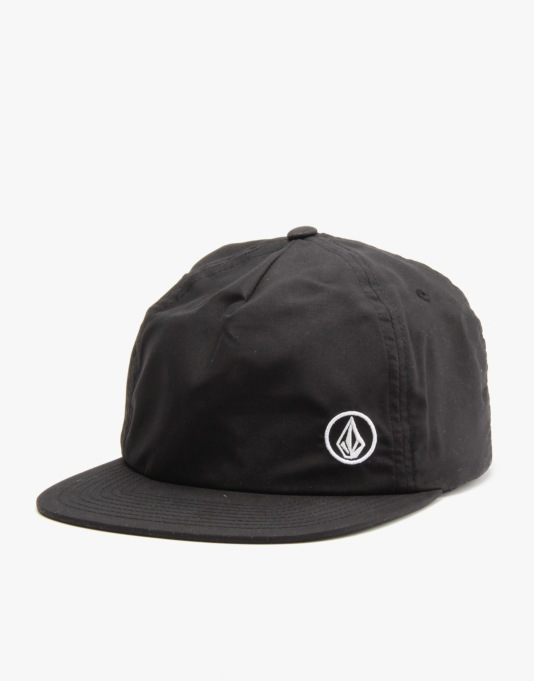 Volcom Single Stone Basic Snapback Cap - Black
