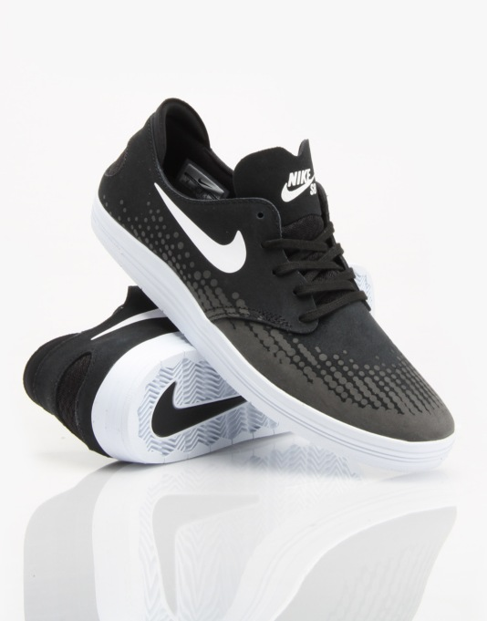 Nike SB Lunar Oneshot Skate Shoes - Black/White