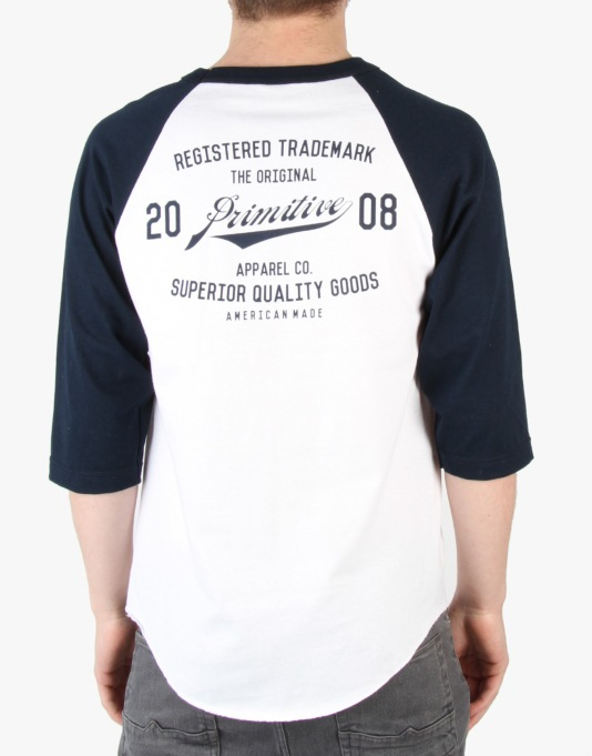 Primitive Registered Raglan T-Shirt - White/Navy