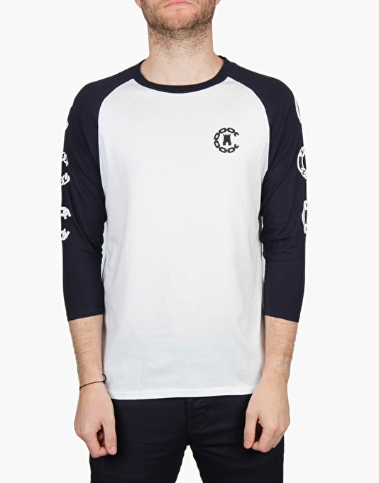 Crooks & Castles Covelli Baseball T-Shirt - White/True Navy