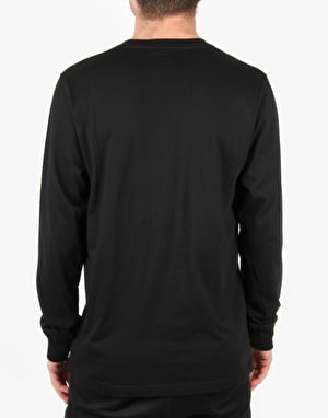 Acapulco Gold Letterman L/S T-Shirt - Black