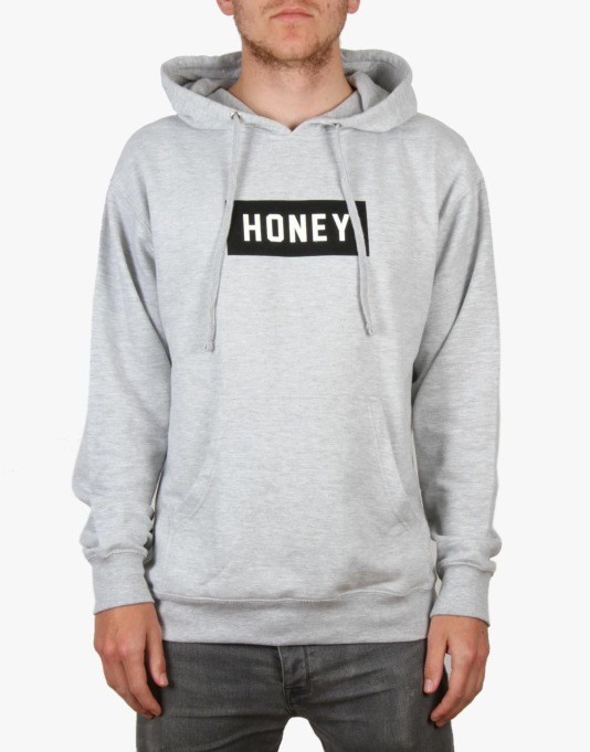 Honey Box Logo Pullover Hoodie - Heather Grey