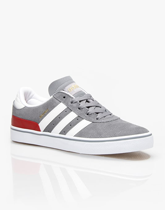 Adidas Busenitz Vulc Skate Shoes - Grey/White/Power Red