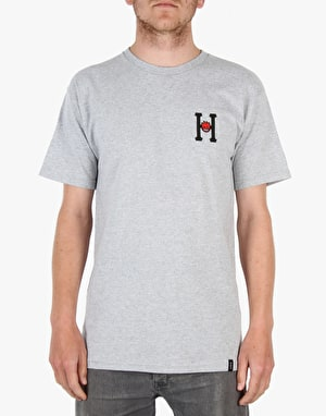 HUF x Spitfire Classic H T-Shirt - Grey Heather