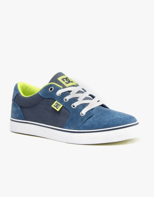 DC Anvil Boys Skate Shoes - Navy