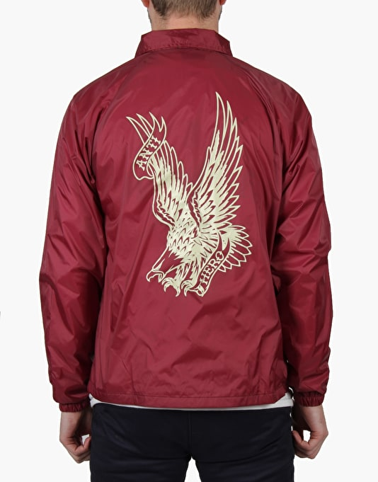 Anti Hero Flying Eagle Coach Jacket - Maroon