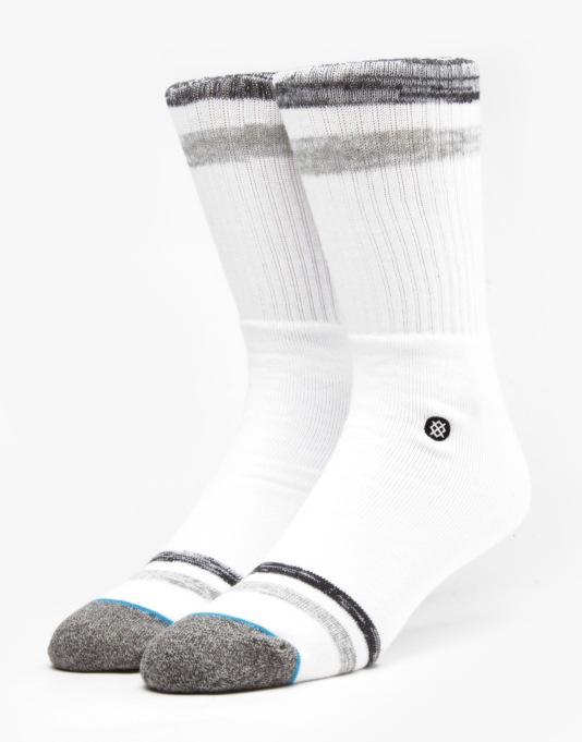 Stance High Tail Classic Crew Socks - White