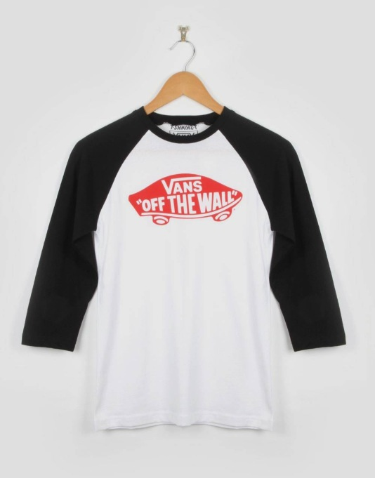 Vans OTW Raglan Boys T-Shirt - White/Red/Black