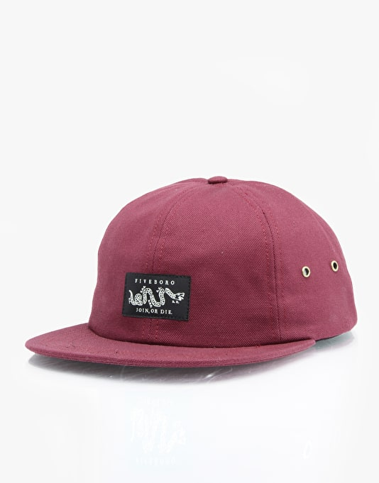 5Boro Join Or Die 6 Panel Cap - Burgundy