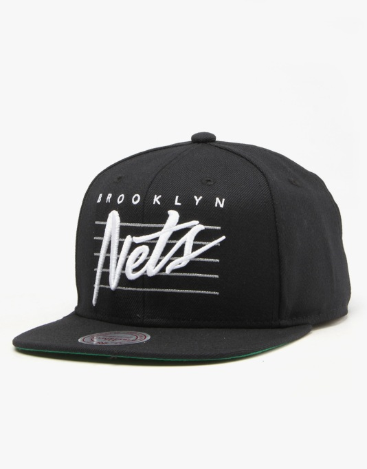 Mitchell & Ness NBA Brooklyn Nets Cursive Retro Script Snapback Cap