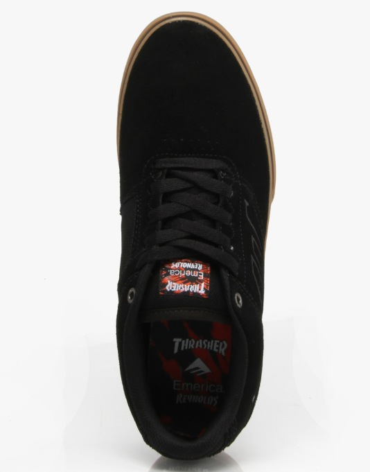 Emerica x Thrasher The Reynolds Low Vulc - Black/Gum
