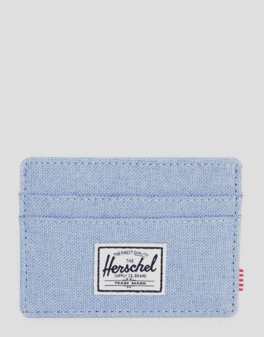 Herschel Supply Co. Charlie Card Holder - Chambray Crosshatch