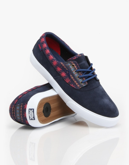 Lakai Camby Skate Shoes - Navy Suede