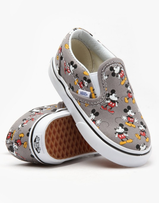 Vans x Disney Classic Slip-On Toddlers Skate Shoes - Mickey Mouse