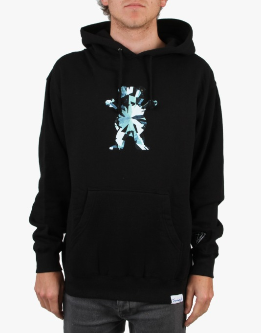 Grizzly x Diamond Simplicity Bear Pullover Hoodie - Black