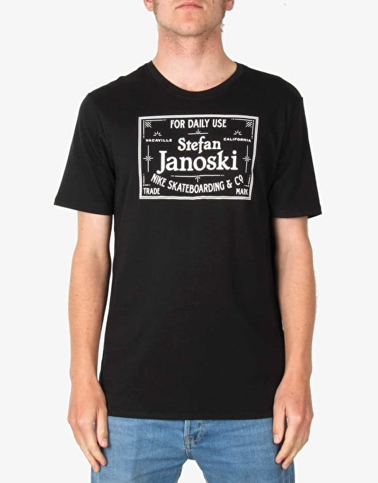 Nike SB Dri-FIT Janoski Label T-Shirt - Black/White