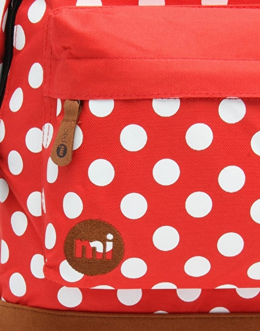 Mi-Pac All Polka Backpack - Bright Red/White