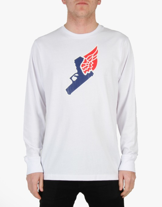 Acapulco Gold Gun Wing L/S T-Shirt - White