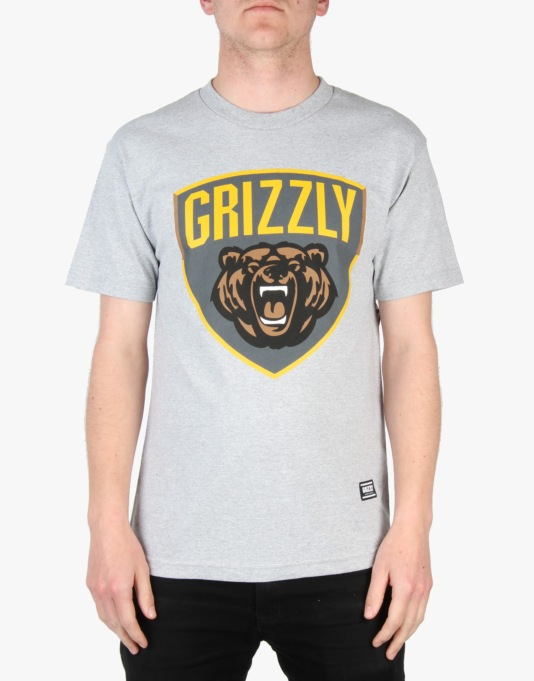 Grizzly Champion T-Shirt - Heather Grey