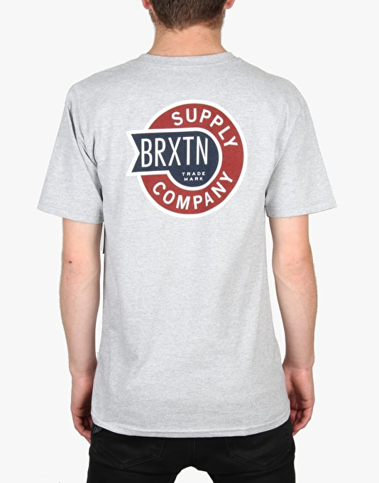 Brixton Sledd T-Shirt - Heather Grey