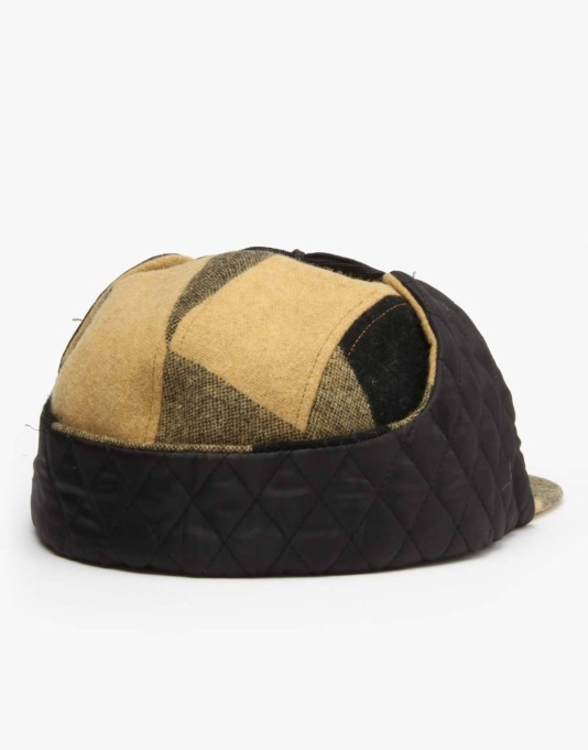 HUF Buffalo Plaid Dog Ear Volley 5 Panel Cap - Mustard