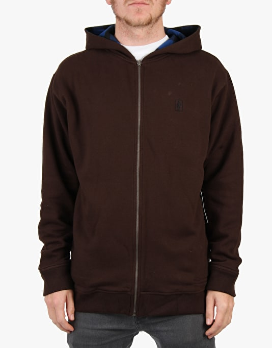 Girl Davie Zip Hoodie - Coffee
