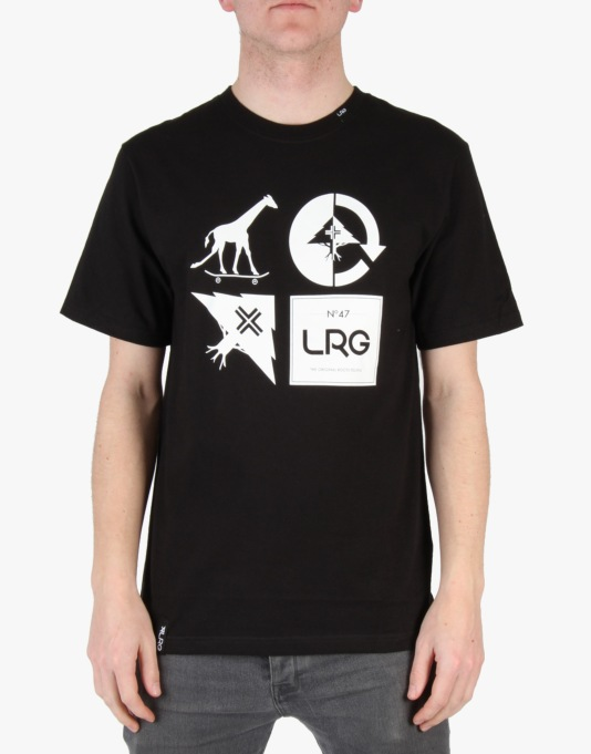 LRG RC Logo Mash Up T-Shirt - Black