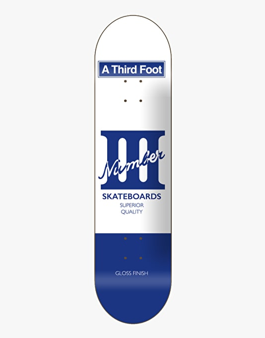 A Third Foot Card Skateboard Deck - 8""