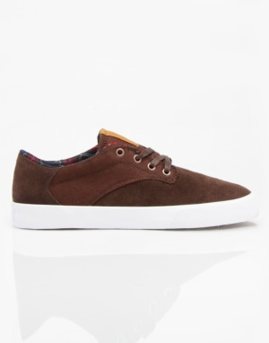 Supra Pistol Skate Shoes - Chocolate - White