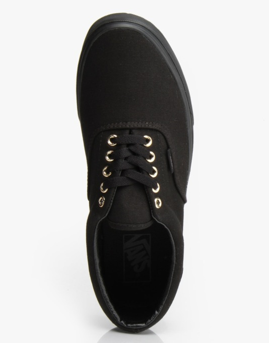 Vans Era Skate Shoes - (Gold Mono) Black