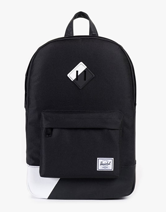 Herschel Supply Co. Heritage Mid Volume Backpack - Black/Black/White