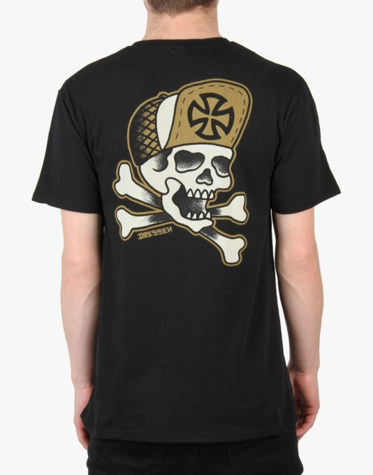 Independent Dressen Skull And Bones T-Shirt - Black