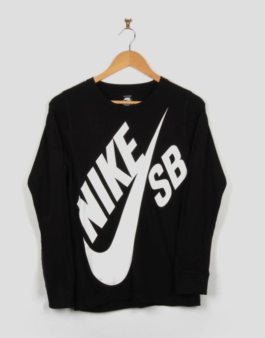 Nike SB Big Boys LS T-Shirt - Black