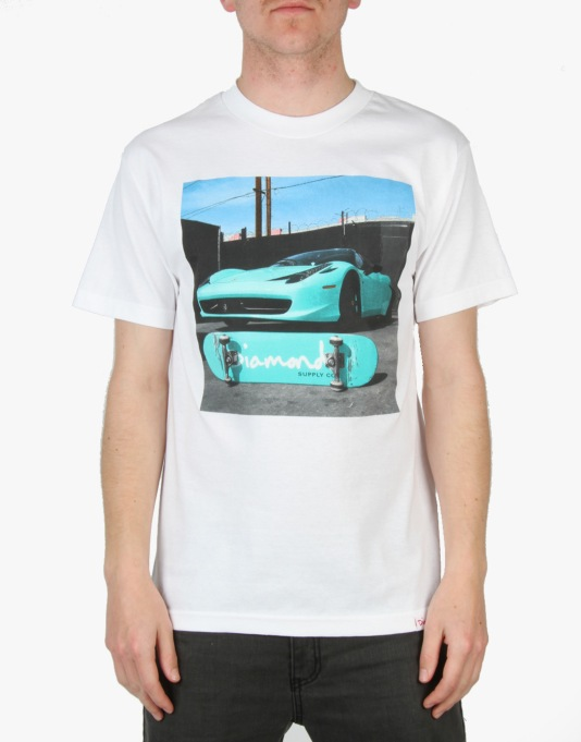 Diamond Supply Co. Ferrari T-Shirt - White
