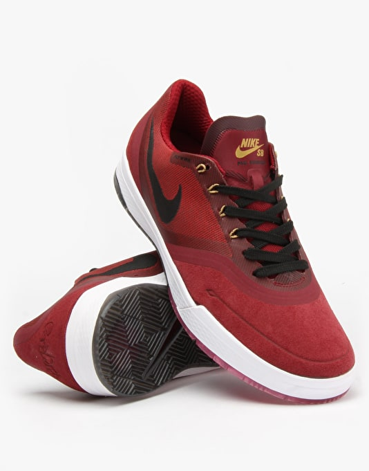 Nike SB Paul Rodriguez 9 Elite Skate Shoes - Team Red/Black-White