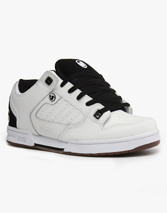DVS Militia Skate Shoes - White Leather